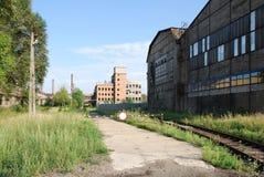 Vecchia fabbrica Fotografie Stock Libere da Diritti