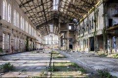 vecchia fabbrica abbandonata Fotografia Stock Libera da Diritti