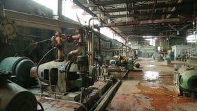 Vecchia fabbrica abbandonata del negozio stock footage