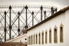 Vecchia fabbrica del gas Fotografia Stock