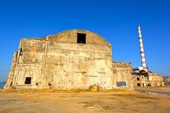 Vecchia fabbrica demolita Immagini Stock Libere da Diritti