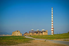 Vecchia fabbrica demolita Fotografia Stock Libera da Diritti