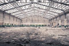 Vecchia fabbrica nell'ambito di demolizione Immagini Stock