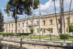 Vecchia fabbrica reale del tabacco, università di Siviglia, ora Siviglia fotografia stock libera da diritti