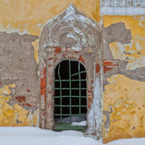 Vecchia facciata con la finestra Fotografia Stock