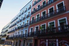 Vecchia facciata dei colori, vecchie costruzioni dentro Immagine Stock Libera da Diritti