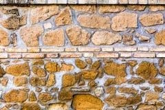Vecchia facciata del classico di struttura della parete di pietra Immagine Stock