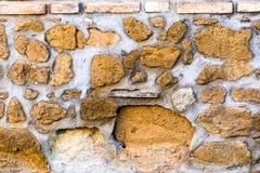 Vecchia facciata del classico di struttura della parete di pietra Fotografia Stock Libera da Diritti