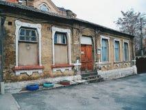 vecchia facciata della casa, Kiev Immagine Stock