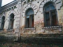 vecchia facciata della casa, Kiev Fotografie Stock Libere da Diritti