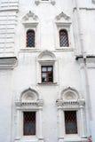 Vecchia facciata della chiesa Mosca Kremlin Luogo del patrimonio mondiale dell'Unesco Immagine Stock Libera da Diritti