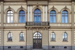 Vecchia facciata della costruzione Fotografie Stock