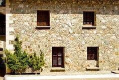 Vecchia facciata di pietra Fotografia Stock