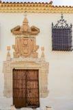 Vecchia facciata spagnola in Lietor Albacete Immagini Stock