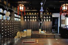 Vecchia farmacia cinese Fotografia Stock Libera da Diritti