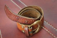 Vecchia fascia marrone Fotografia Stock Libera da Diritti