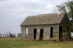 Vecchia fattoria abbandonata Fotografie Stock Libere da Diritti