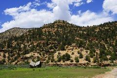 Vecchia fattoria ad un canyon da nove miglia immagini stock libere da diritti