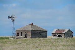 Vecchia fattoria del Wyoming Fotografie Stock