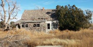 Vecchia fattoria di Kansas Fotografie Stock Libere da Diritti