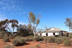 Vecchia fattoria nell'entroterra australiana ad ovest Fotografia Stock