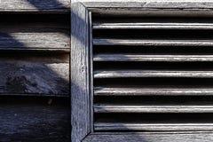Vecchia feritoia di legno Fotografia Stock