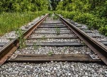 Vecchia ferrovia abbandonata fotografia stock