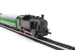 Vecchia ferrovia del giocattolo Fotografie Stock