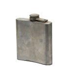 Vecchia fiaschetta dell'acciaio inossidabile Immagine Stock