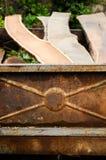 Vecchia fine arrugginita del rimorchio su Immagine Stock Libera da Diritti