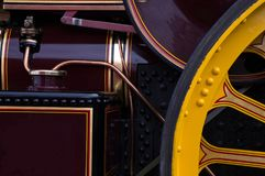 Vecchia fine del dettaglio del motore a vapore sulla vista Fotografia Stock