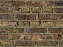 Vecchia fine del muro di mattoni in su Fotografia Stock Libera da Diritti