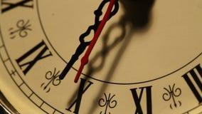 Vecchia fine dell'orologio su metraggio archivi video