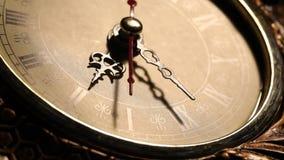 Vecchia fine dell'orologio su metraggio video d archivio