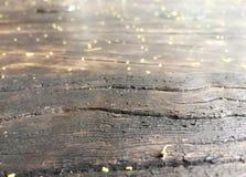 Vecchia fine di legno della tavola su immagine stock