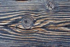 Vecchia fine di legno di struttura sulla macro Fotografia Stock