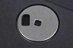 Vecchia fine a disco magnetico di macro su Immagini Stock