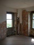 Vecchia finestra 4 del castello Fotografie Stock Libere da Diritti