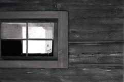 Vecchia finestra ad ovest immagini stock