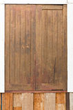 Vecchia finestra arrugginita del legno duro Immagine Stock Libera da Diritti