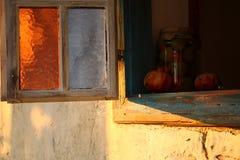 Vecchia finestra bosniaca a Sarajevo, Bosnia-Erzegovina Immagini Stock
