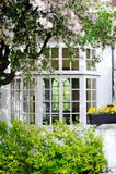 Vecchia finestra britannica classica. Immagine Stock