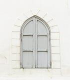 Vecchia finestra d'annata blu Fotografia Stock