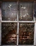 Vecchia finestra del grunge immagine stock