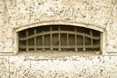 Vecchia finestra del seminterrato Immagine Stock Libera da Diritti