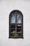 Vecchia finestra dell'arco Immagine Stock
