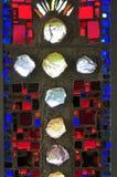 Vecchia finestra della chiesa Immagini Stock