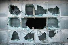 Vecchia finestra della fabbrica Immagini Stock