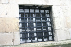 Vecchia finestra della prigione Immagini Stock Libere da Diritti