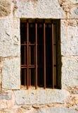 Vecchia finestra della prigione Fotografia Stock